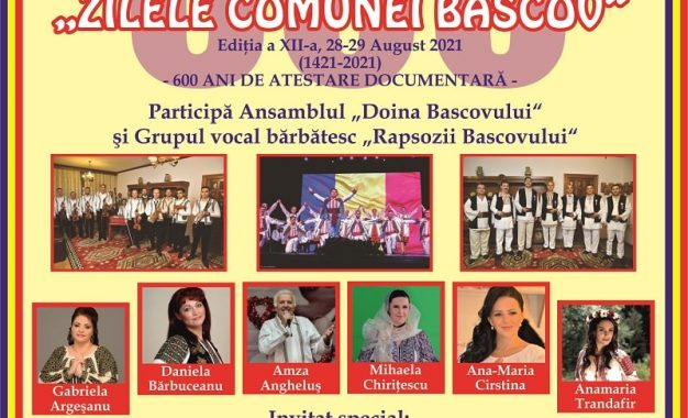 Manifestări cultural-artistice cu prilejul sărbătoririi a 600 ani de atestare documentară a comunei Bascov