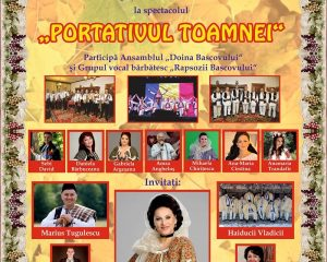 """PORTATIVUL TOAMNEI, un nou spectacol de folclor autentic la Casa de Cultură """"Adriana Trandafir"""""""